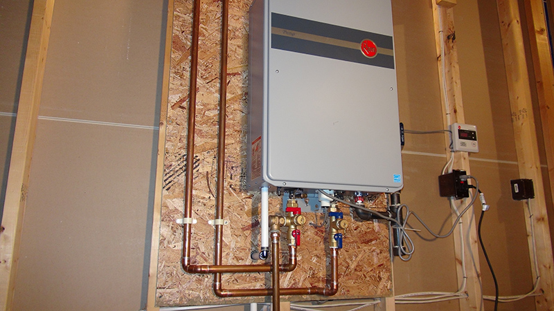 Rheem Tankless Water Heater photography