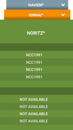 Noritz Cross Reference Chart Commercial Tankless Models