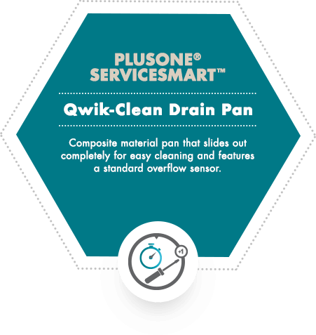 PlusOne ServiceSmart - Quick-Clean Drain Pan