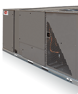 Side-view product image of Rheem commercial H2AC unit.