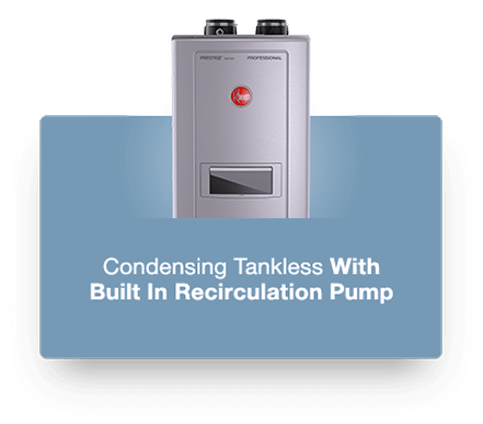 Rheem High Efficiency Tankless Water Heater Option