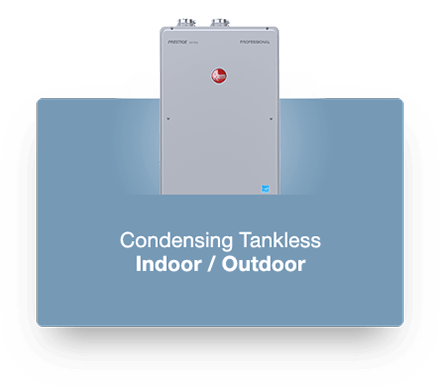 Rheem High Efficiency Condensing Tankless Water Heater Product Photo