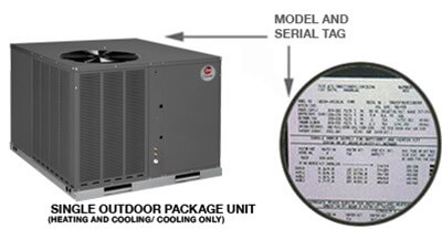 rheem model serial numbers rheem manufacturing companyone model and serial tag identifies package equipment