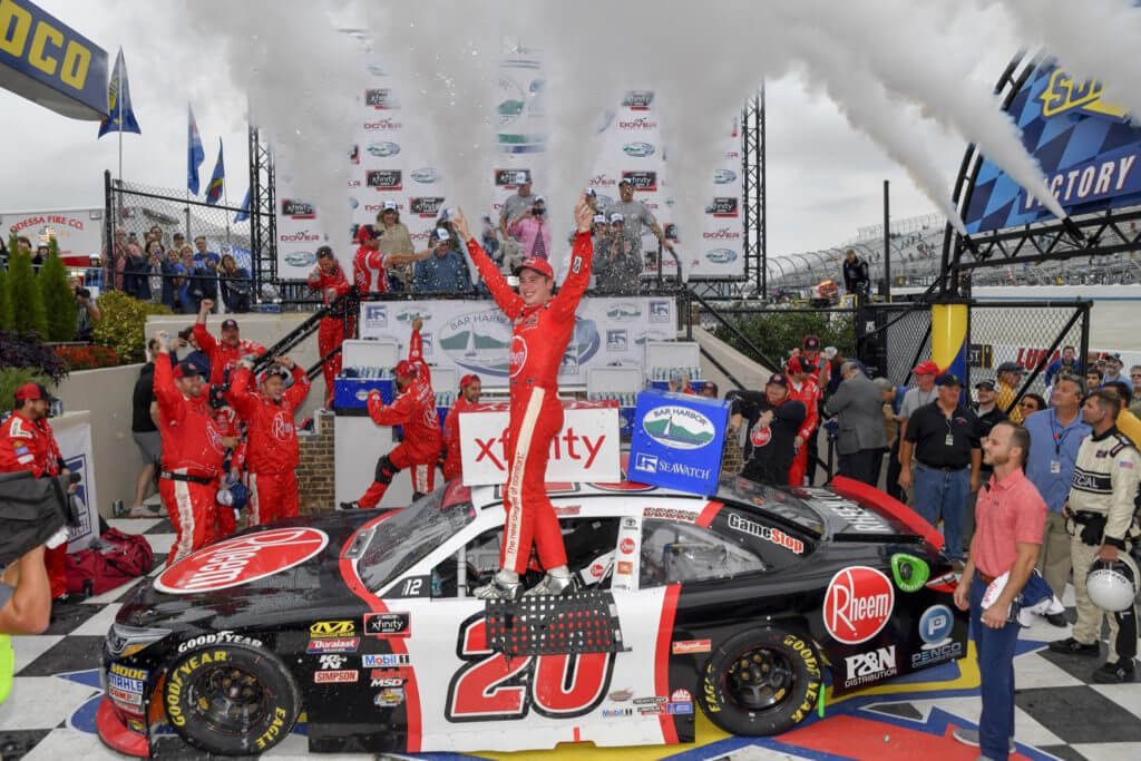10/06/18 NASCAR Xfinity Series, The Bay Harbor 200, Dover International Speedway, Christopher Bell, Joe Gibbs Racing, Toyota Camry, Rheem, Win
