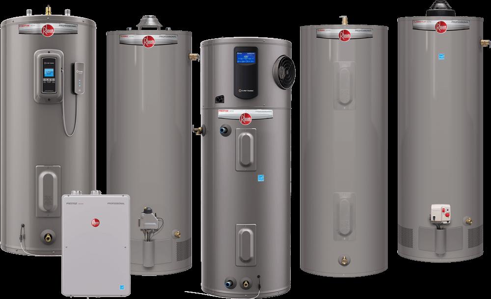 Rheem-residential-water-heaters