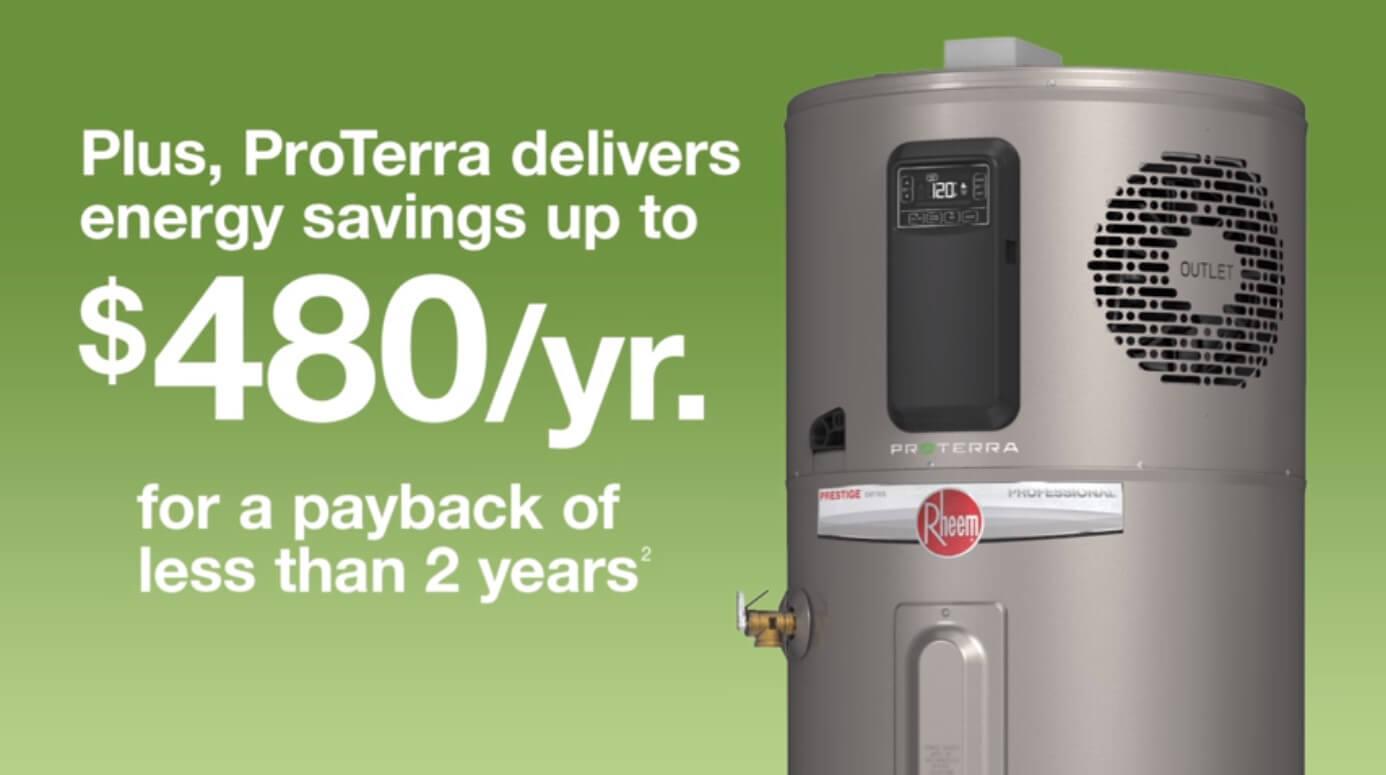 energy savings up to $480 per year