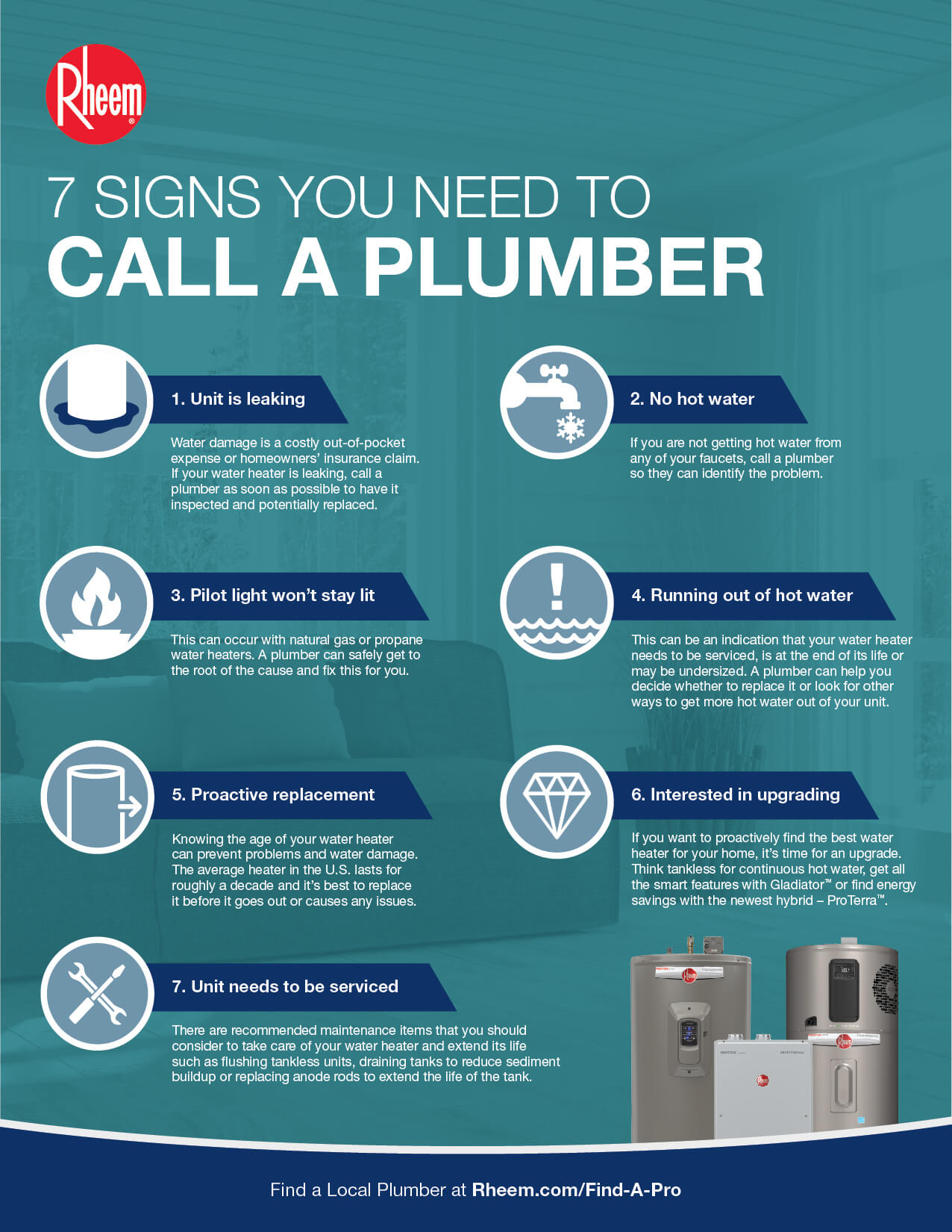 image of the printout with 7 signs you need to call a plumber