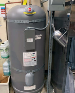 after photo of the football stadium water heater