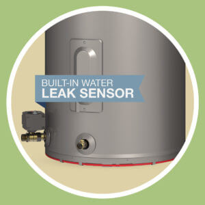 built-in leak sensor