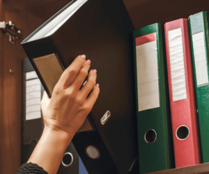 Organize your home appliance owner's manuals using binders