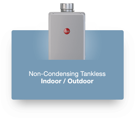 Rheem High Efficiency Non-Condensing Tankless Water Heater Product Photo