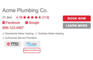 plumber listing