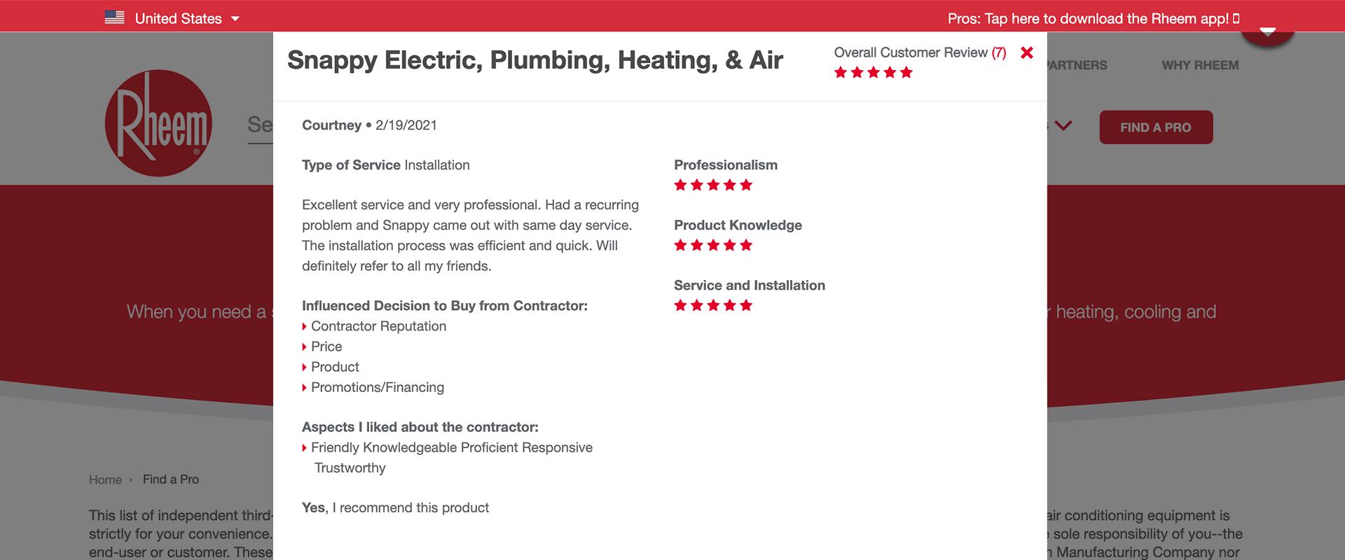 plumber review