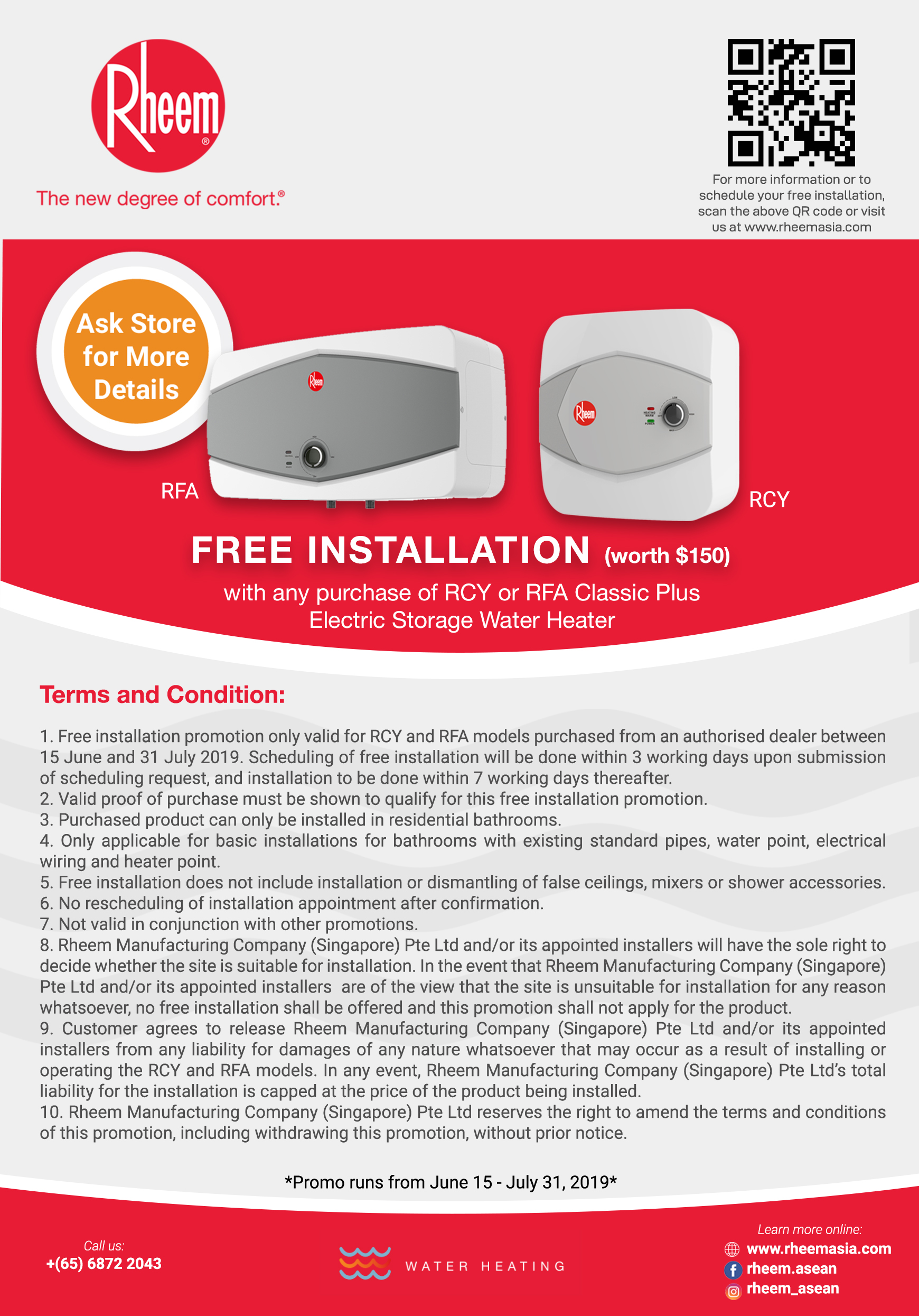 RFA RCY Free Installation Promotion