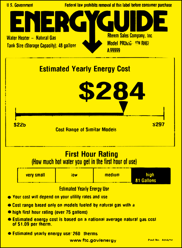 New Energy Guide Label