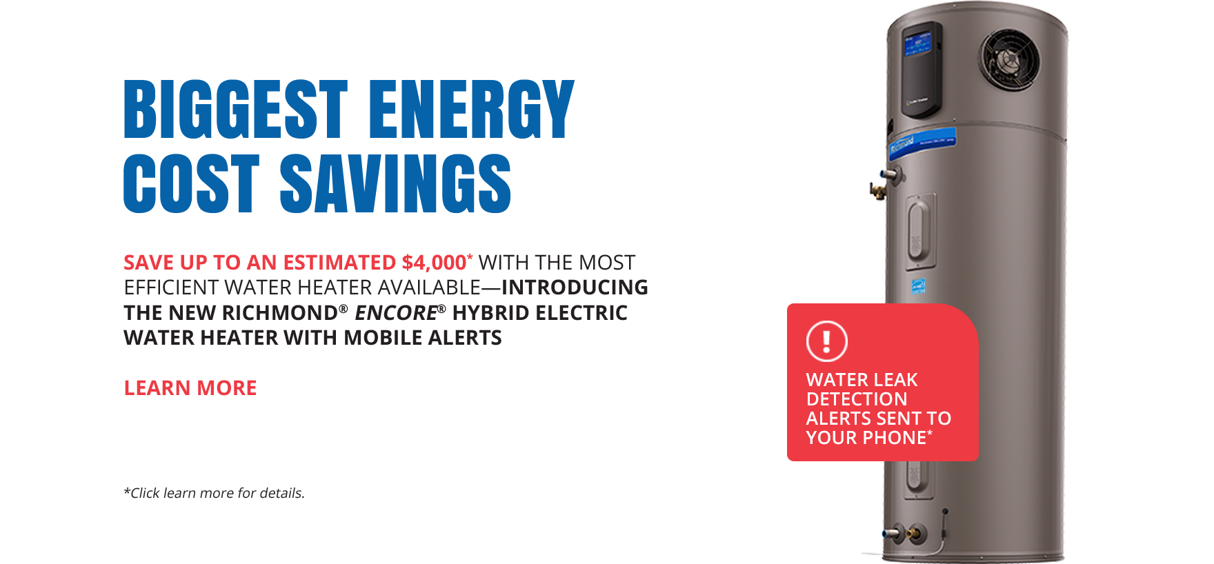 Richmond water heaters hybrid savings commercial tank water heater ccuart Choice Image