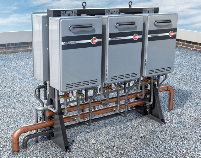 Commercial Tankless System – Free Standing