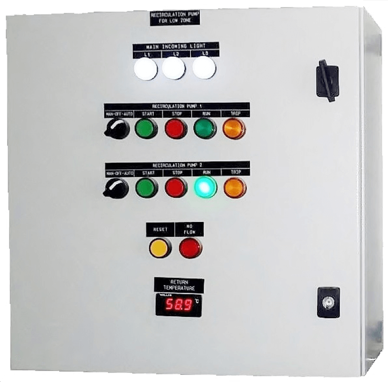 Integrated Control Panel for Commercial Centralized Hot Water System